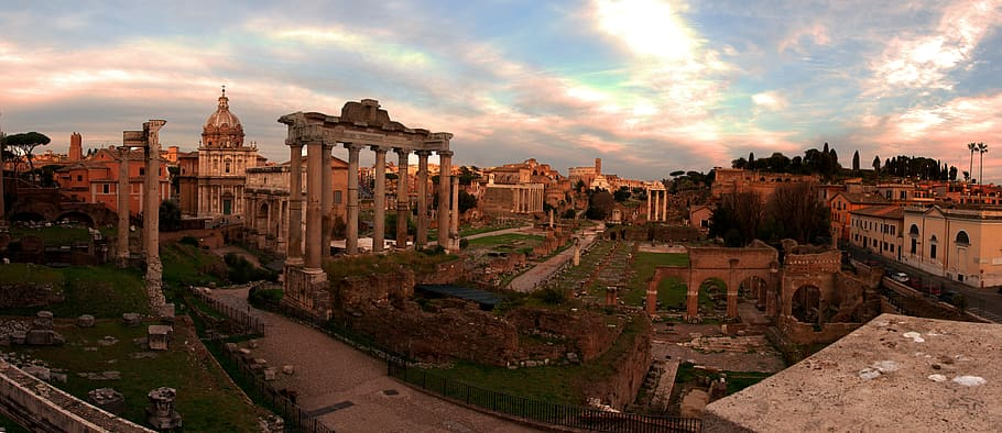 View of the Roman Forum from the Capitoline Hill
